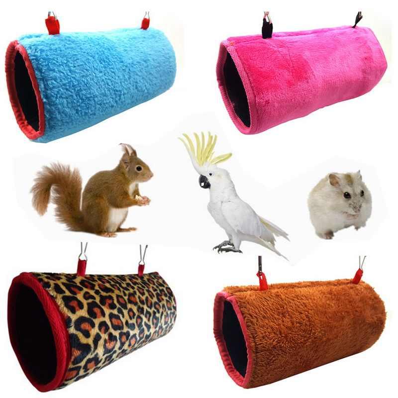 Маленькие домашние птицы подвесная игрушка для кровати попугай, белка теплый туннель гамак для домика качели гнездо Сарай крыса, хомяк белка Кровать Дом