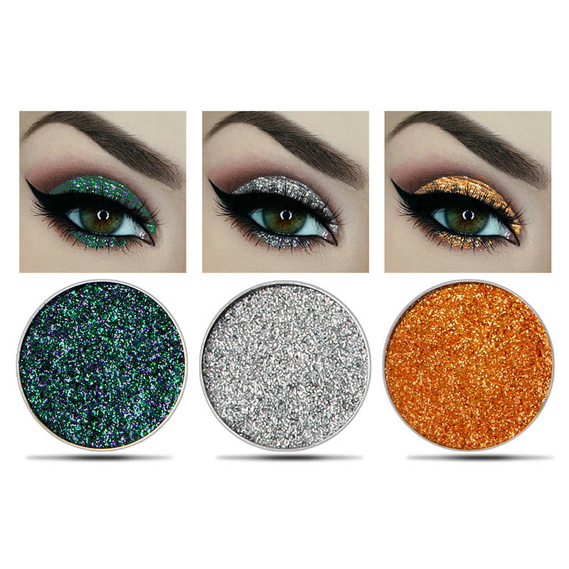 Eye Shadow 6 Color Glitter Makeup Eyeshadow Palette Children Stage Festival Party Makeup Shimmer Sequins Glitter Eye Shadow Palette Tslm1 Beauty & Health