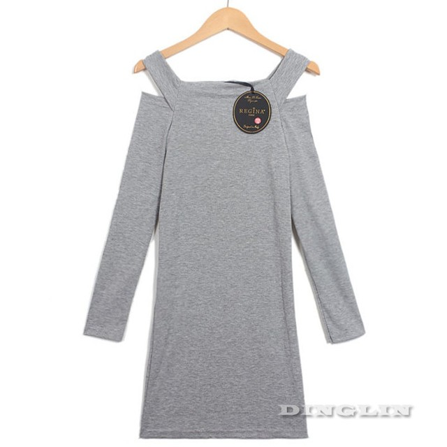 Women's Long Sleeve Knit Sweater Cocktail Dress