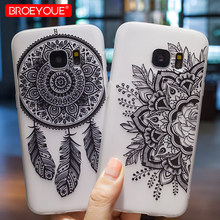 Case For Samsung Galaxy S9 Plus J3 J5 S8 J7 Pro A3 A5 A7 2016 2017 S7 Edge Soft TPU Silicone Lace Flowers Cases Covers(China)