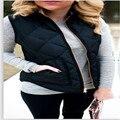 Wnter Vest Waistcoat Women Cotton Padded Jacket Female Sleeveless Coat Tops Outerwear