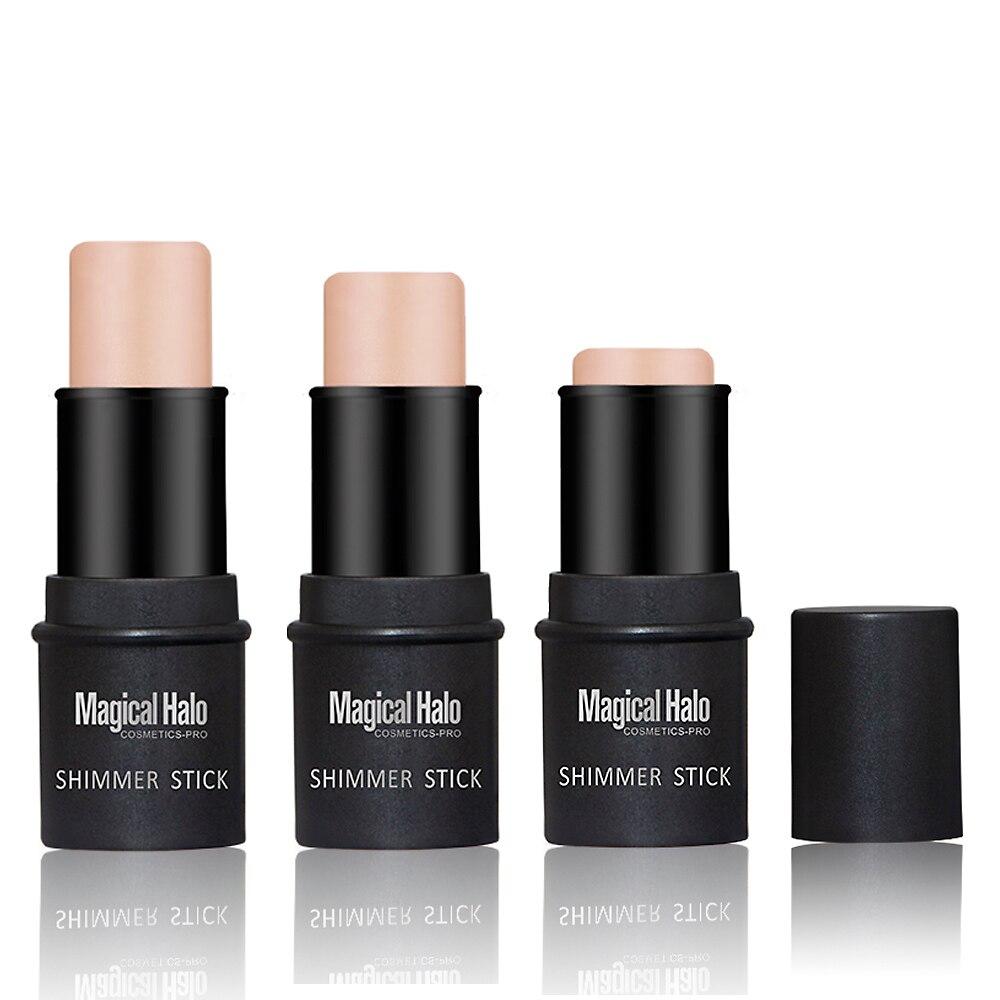 Hot Face Highlighter Sticker Golden Shimmer Powder Bronzer Highlight Primer Cream Correttori Waterproof Light Contouring Makeup