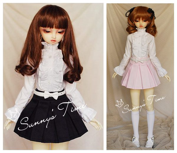 1/3 scale BJD accessories shirt + skirt doll clothes for BJD/SD.Not included doll,shoes,wig and other accessories 16C0735 full set top quality 60 cm pvc doll 1 3 girl bjd wig clothes shoes all included night lolita reborn baby doll wedding price shas