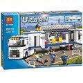 394pcs 2016 BELA 10420 City Police Mobile Police Unit building blocks Action Figures Model Toys 10420