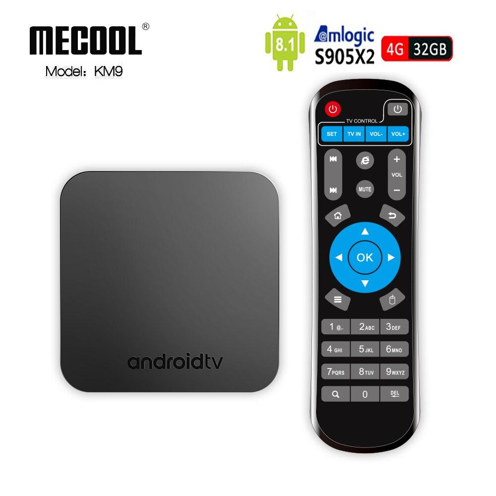 KM9 Android 8.1 TV Box Amlogic S905X2 DDR4 4 gb RAM 32 gb ROM Quad Core 2.4g 5g wiFi OTA Bluetooth 4.1 4 k HD Smart Set Top Box