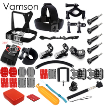 Vamson for Gopro hero 5 Accessories Set Helmet Chest Belt Head Mount Strap Monopod for Gopro Hero 4 3 for xiaomi for SJCAM VS75