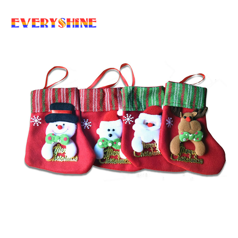 wholesale 20pcslot santa gift bags christmas decorations holders christmas tree hanging ornaments crafts supplier sd296