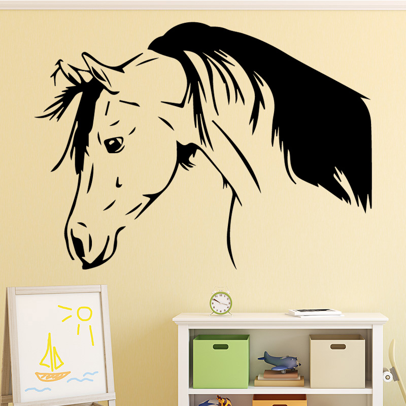 Us 2 97 15 Off Aiyoaiyo Handsome Horse Wall Sticker Home Decoration Accessories Wall Stickers For Living Room Bedroom Diy Vinyl Wall Art Decal In