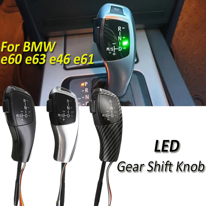 Boîte automatique LED Pommeau de levier de Vitesse manette de vitesse levier Pour BMW E46 E60 E61 E63 E64 E39 E39 E53 E90 E91 E93 E81 E82 E84 E87