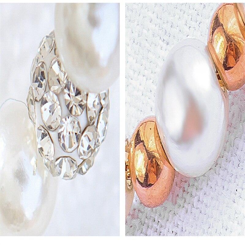 40e7132e0ad9f V.YA Fashion Artificial Pearl Bracelets For Women Stainless Steel Zircon  Bracelet Rose Gold /Silver Bangles For Girls Charm Gift