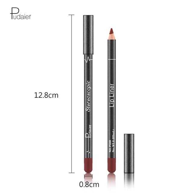 1 Colors/Set Sexy Matte Lip Stick Lipliner Lip Liner Pencil Matt Nude Lipsliner Pen Set Beauty Makeup Tool Cosmetic For Lips 5