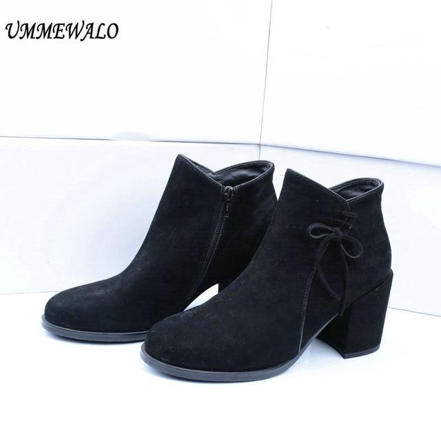 Zapatos de otoño de punta redonda casual para mujer QwtGd