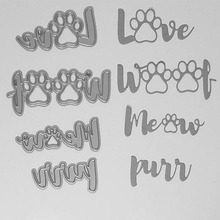 Dog Claw Words Metal Cutting Dies Stencils For Scrapbooking Paper Cards Crafts DIY 2018 New (China)