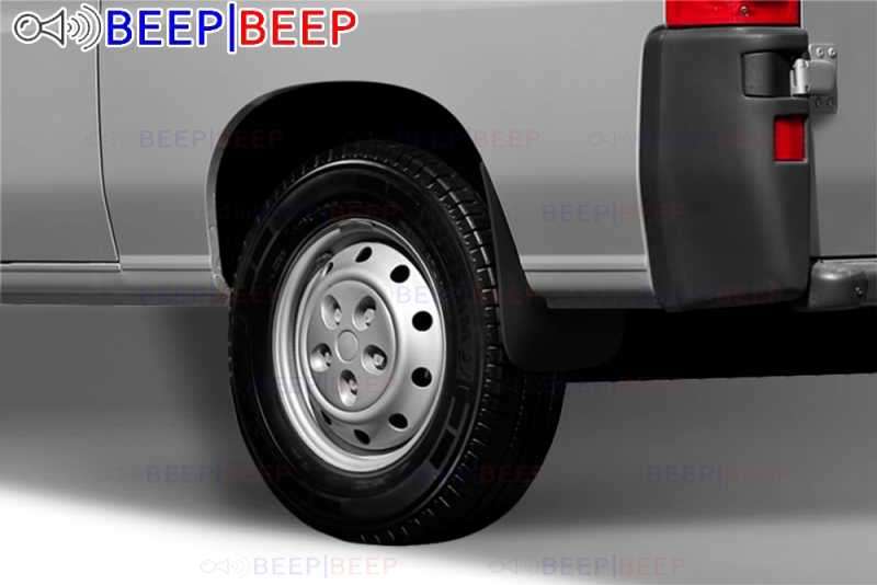 Custom Moulded Mudflaps Splash Guards Front Rear for Fiat Ducato 2012-2014