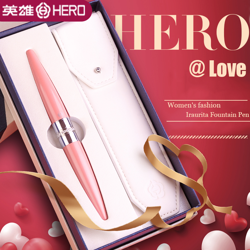 love Diamond decoration Iraurita fountain pen 0.5mm metal luxury pens for Women best gift Stationery Office school supplies 1067love Diamond decoration Iraurita fountain pen 0.5mm metal luxury pens for Women best gift Stationery Office school supplies 1067
