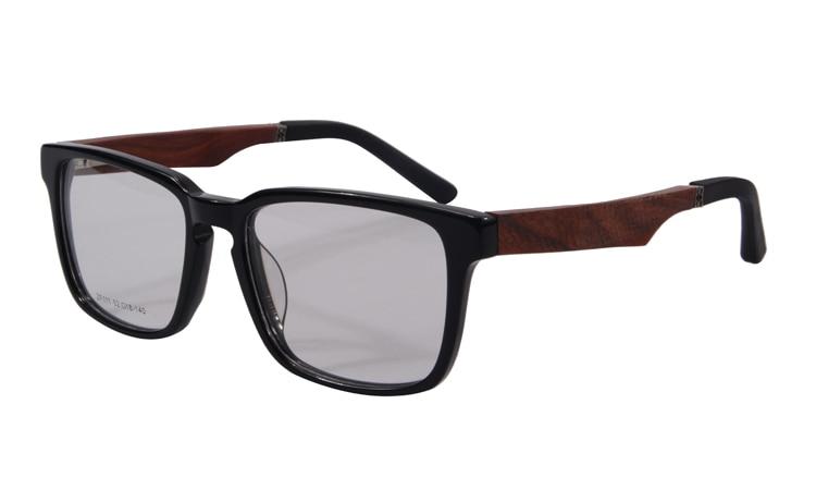 Натуральная деревянная оправа для очков, мужские очки sagawa fujii, очки по рецепту, оправа для очков, полная оправа, оптическая оправа, женские очки ZF111 - Цвет оправы: gloss black