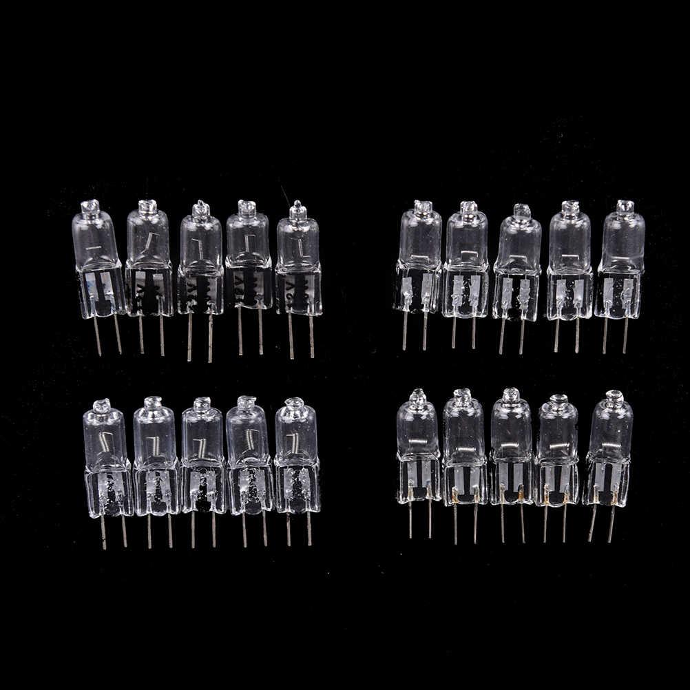 Mini lâmpada led g4 3 pces lâmpada de halogênio g4 lâmpada led 12v 10w 20 35 45 lâmpada de halogênio de tungstênio iluminação led lâmpada de luz