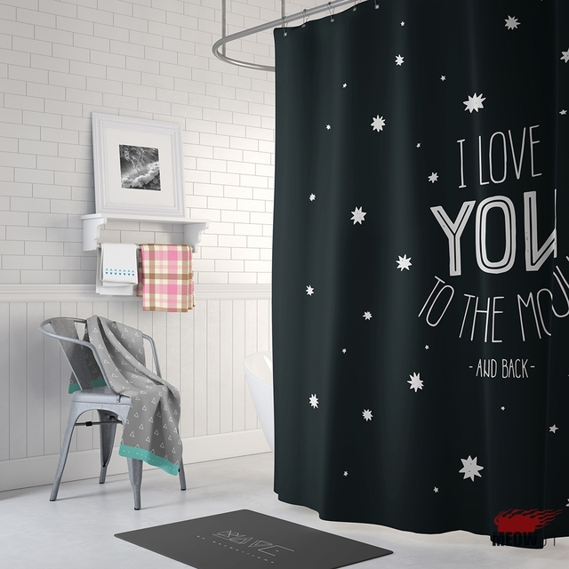Nice Quote Shower Curtain Printed Waterproof Polyester Fabric ...
