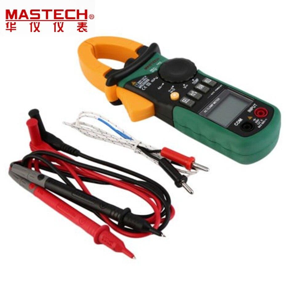 Multimètre numérique ampèremètre pince pince de courant pinces courant alternatif AC/DC tension condensateur testeur de résistance MASTECH MS2008B