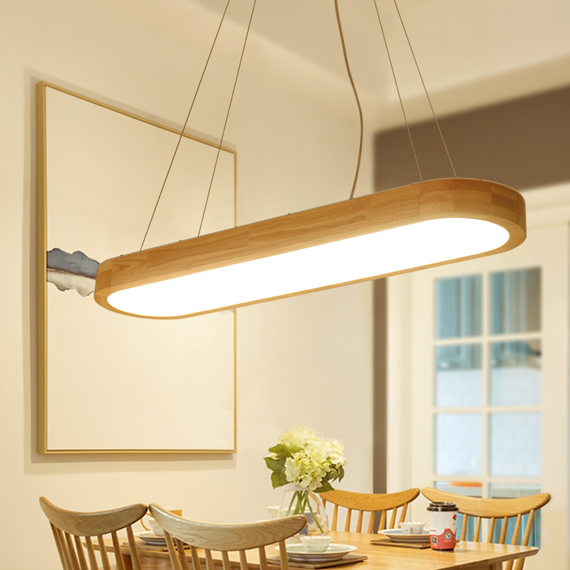 Nordic solid wood led pendant light simple living bedroom restaurant home lighting rectangular LED lamps ceiling lamp ZA MZ85 solid wooden restaurant lamp pendant lights wood nordic new rectangular bar led solid wood office pendant lamps mz141