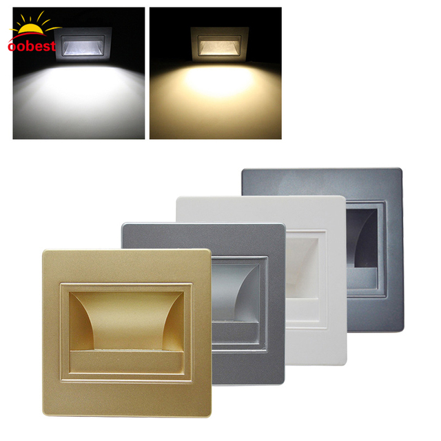 Led sensor recessed led stair light new lamps arandela modern 85 led sensor recessed led stair light new lamps arandela modern 85 265v 1w wall lights aloadofball Image collections