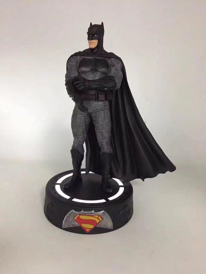 Superman Statue with LED Light PVC Figure Super Hero Batman Wonder Woman