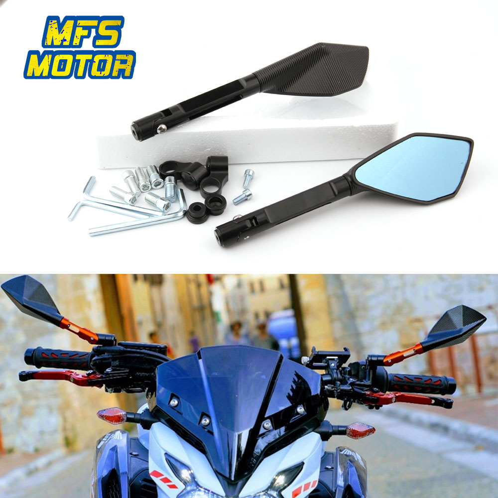 For KTM duke 390 125 200 1290 exc 450 250 300 125 1190 Motorcycle Accessories 8mm 10mm Universal Rear View Mirrors Blue Glass