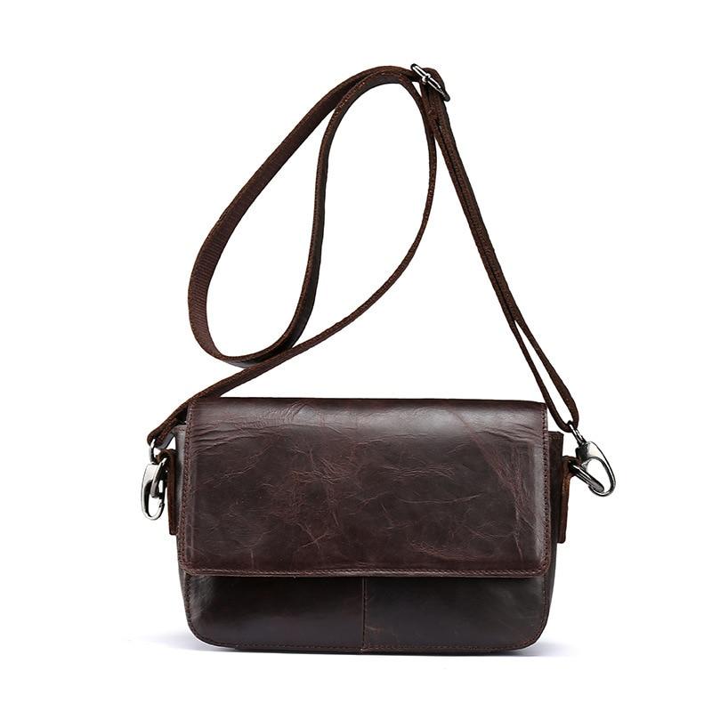 ФОТО 2017 new winter leather shoulder handbags oil wax leather diagonal header layer of leather mini satchel bag tide Korea