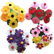 2PCS New Design DIY Non woven Artificial Flower Pot Children Handicraft font b Toys b font