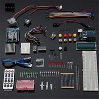 UNO R3 Starter Kit 1602 LCD Step Motor Breadboard Servo LED Resistor For Arduino Component Basic
