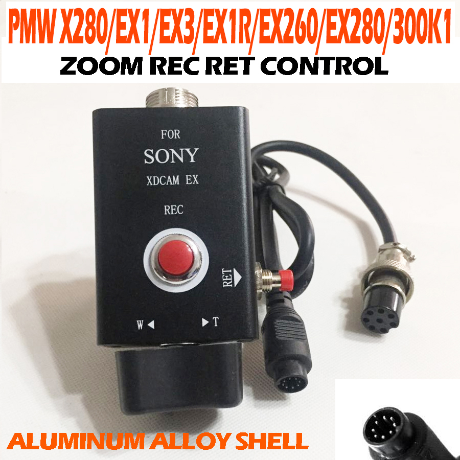 Pro Camcorder Rec Zoom Remote Control 8-pin for PMW X280 EX1 EX1R EX3 EX260 EX280 From SONY for tripod Video Camera Shooting tripod handle camcorder eng lens controller with rec zoom control for lenses from fuji or canon professional broadcast camera