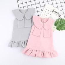 657182d30 Niño niñas moda lana vestido Otoño Invierno Baby Girl Ruffle partido lotes  a granel al por mayor ropa niños vestido de acción