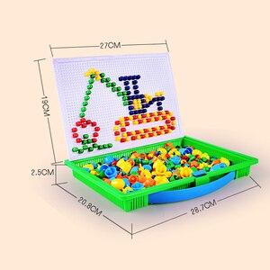 Image 3 - Lantiger 296pcs פטריות ציפורניים אינטליגנטי 3D משחקי פאזל DIY פטריות ציפורניים פלסטיק Flashboard ילדי צעצועים חינוכיים צעצוע