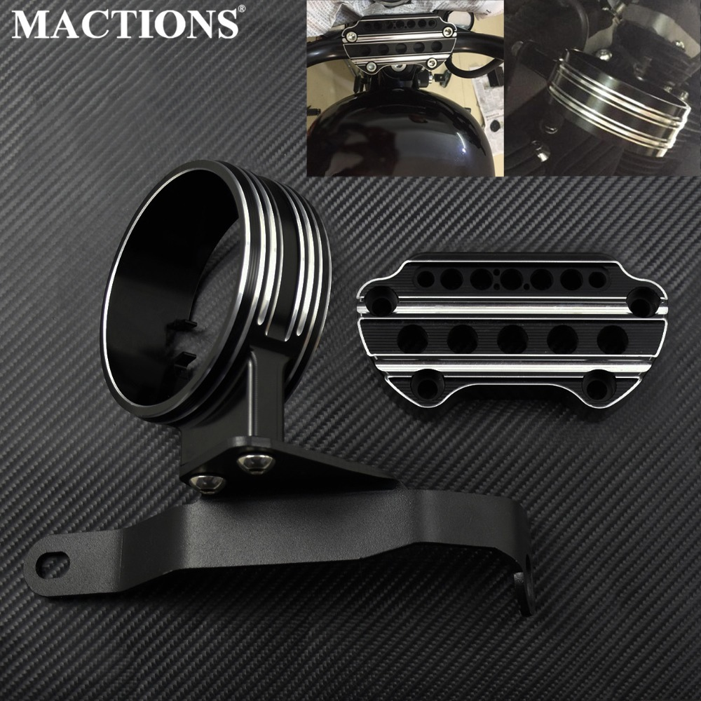 Motorbike Instrument Bracket Motorcycle Side Mount Speedometer Relocation Cover For Harley Sportster 883 2004-2018 Aluminum