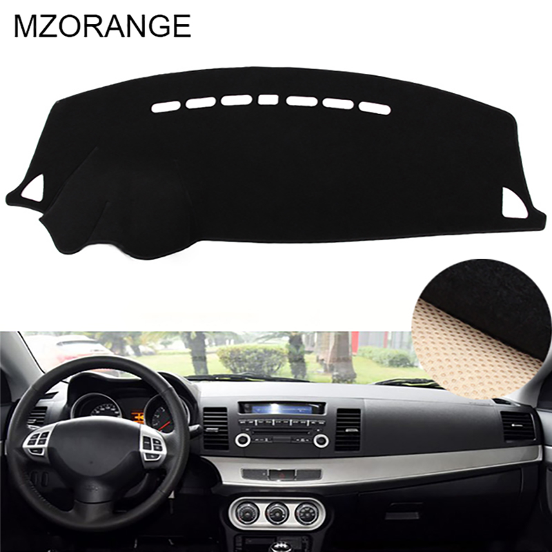 Black Red Dashboard Cover For Mitsubishi Lancer EX Fortis 2008 2009 2010 2011 2012-2017 Dashmat Dash Mat Sun Shade Cover Carpet