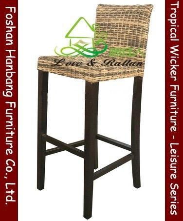 mimbre taburete de barra en taburetes de la barra de muebles en