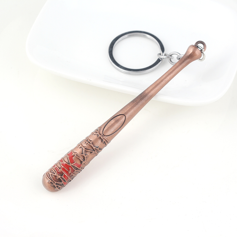 The Walking Dead Stick Keychain Negan's Bat LUCILLE Key Chain Car Keyring For Men Jewelry Gift
