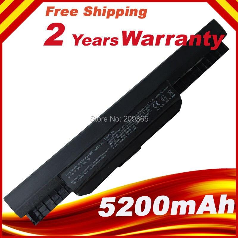 New Battery for Asus A32-K53 A42-K53 K43 K53BY K53E K53F K53SJ K53S/E K53SD K53U,FREE shipping
