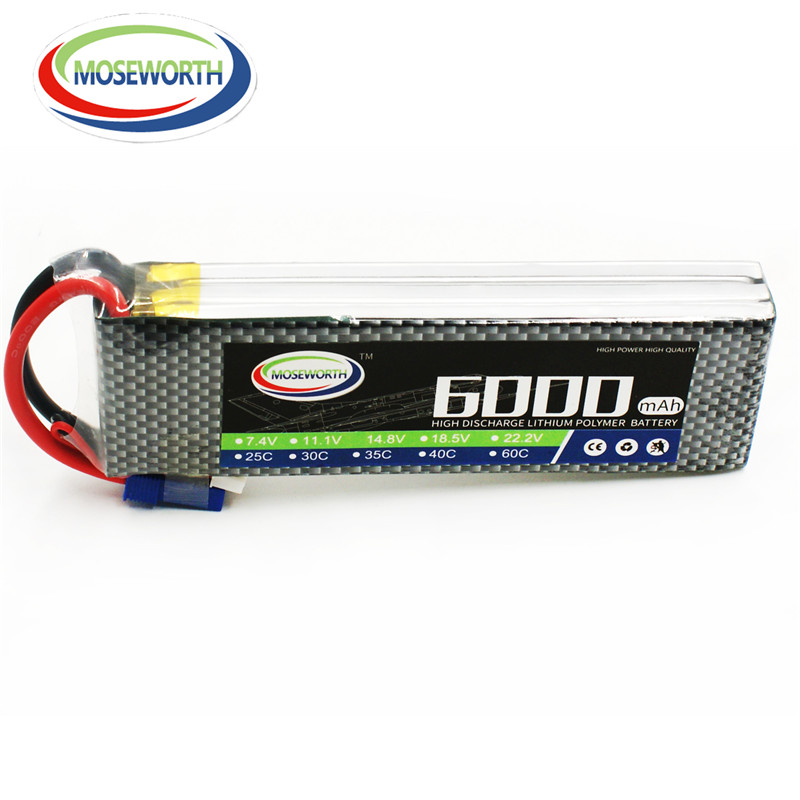 MOSEWORTH RC aircraft Lipo Battery 3S 6000mah 60C 11.1V for RC quadcopter airplane High rate batteria RC Drone cell mos rc airplane lipo battery 3s 11 1v 5200mah 40c for quadrotor rc boat rc car