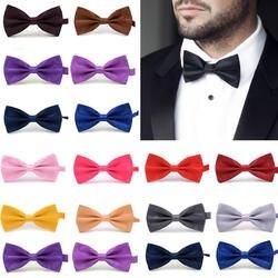 Распродажа 1 шт. джентльмен для мужчин Классический Атласный Галстук бабочка для Свадебная вечеринка Регулируемый галстук-бабочка узел