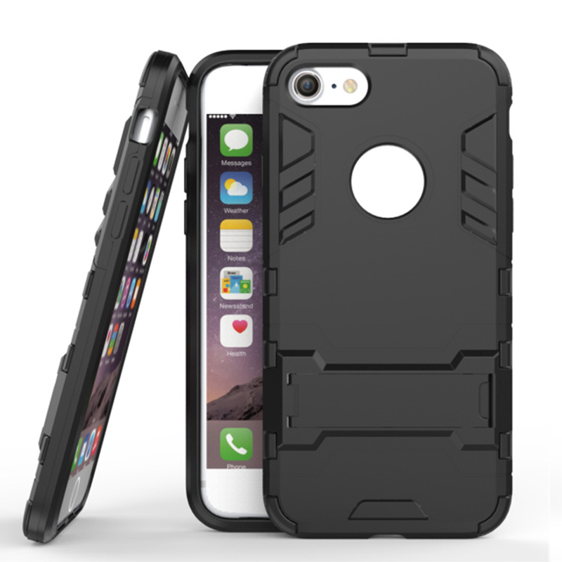High quality Case for Iphone 6s 6 Plus Armor Back Cover for Iphone 7 8 7plus Cover Kickstand Cover iPhone 8 6s 8Plus case black