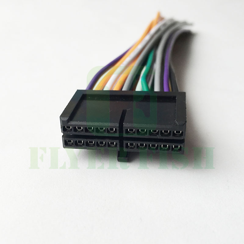 20 PIN Wire Radio Harness Power Plug For DIY JENSEN AWM968 Pyle PLBT72G PLDN76DB PLBT72C Power aliexpress com buy 20 pin wire radio harness power plug for diy jensen 20 pin wire harness at soozxer.org