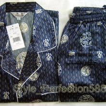Free Shipping!Wholesale And Retail2PCS New Mens Silk Pajamas
