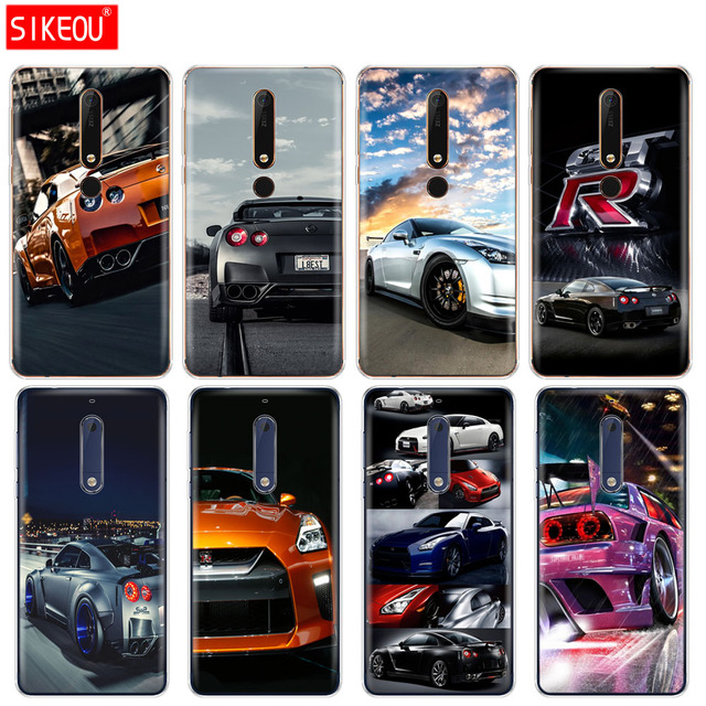 huge discount e9553 3f25e US $1.62 34% OFF|silicone cover phone case for Nokia 5 3 6 7 PLUS 8 9  /Nokia 6.1 6 2018 GTR SPORT CAR print-in Fitted Cases from Cellphones & ...