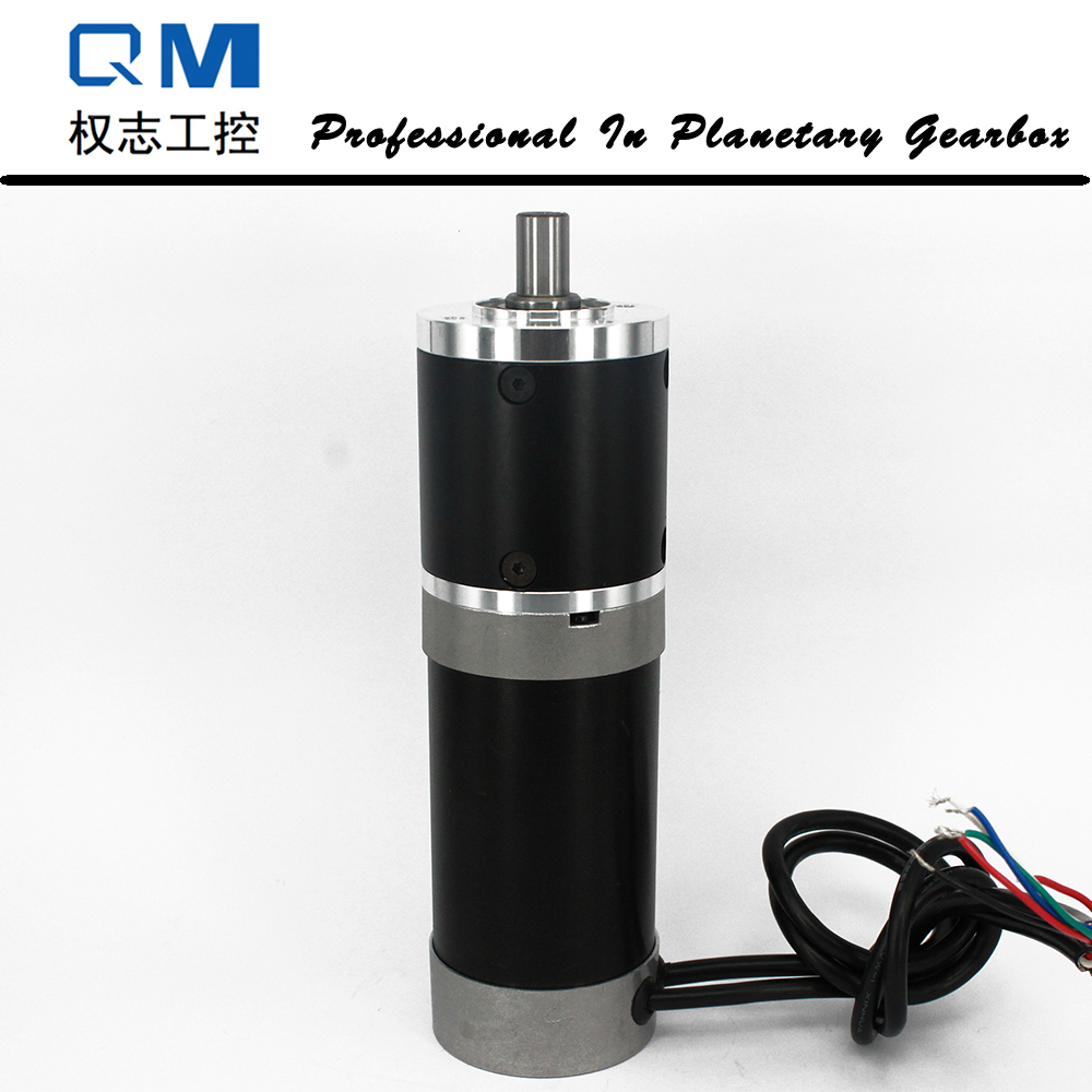 Gear dc motor planetary reduction gearbox ratio 40:1 nema 23 180W gear brushless dc motor 24V bldc motor high quality 5n m 42 42 119 7mm brushless dc motor with planetary gearbox reduction ratio 104 8