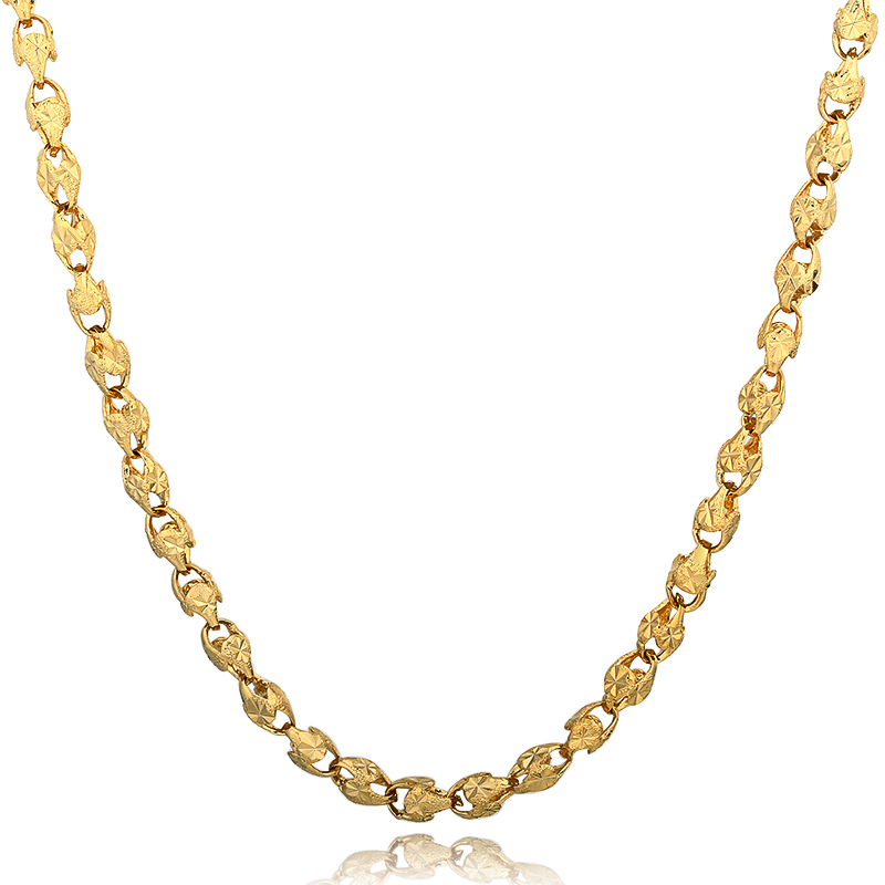 Long 6MM Vintage Punk Gold Filled Miami 60cm Chain Hip Hop Chain Gift For Women/Men Jewelry