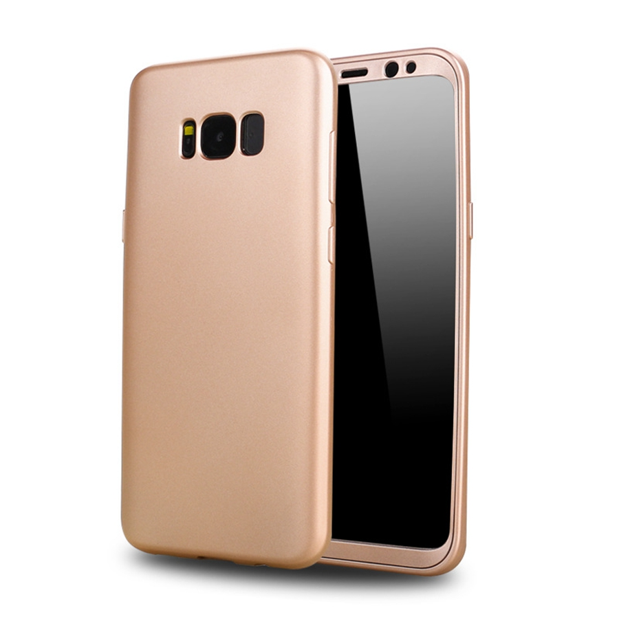 360 Degree Phone Case For Samsung Galaxy S8 Plus S8plus Full Body Protective Front PC+ Soft TPU Silicon Full Back Cover