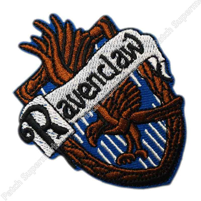 Harry Potter House Ravenclaw Crest Emblem Embroidered Robe Iron On