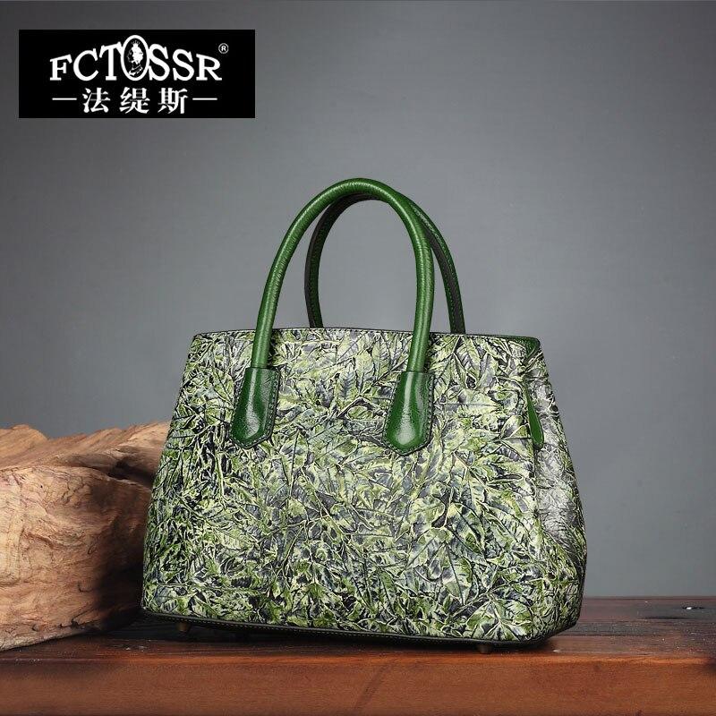 Umhängetasche Malerei Schultertasche Frauen 2018 Weibliche Green Shell Echtes Painted Mode Hand Messenger Handtaschen PX8qqxwdf