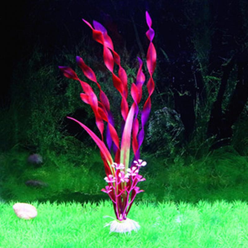 Artificial Grass Aquarium Decoration kelp fish tank aquarium landscaping simulation plants Ornament Decoration 31cm